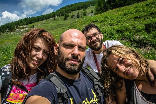 Selfie in Val troncea, verde e sole