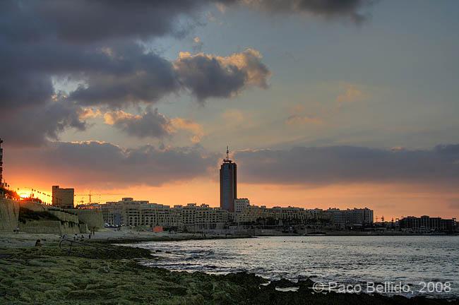 Puesta de sol en St. Julian. © Paco Bellido, 2008