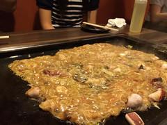 monjayaki, meat, food, dish, cuisine, okonomiyaki,