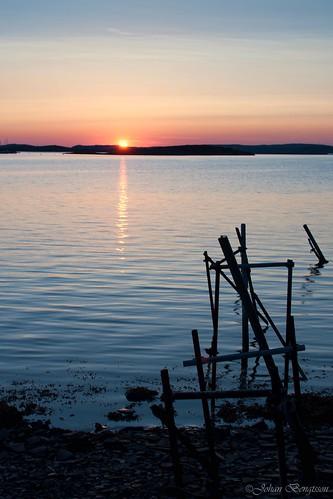 light sunset sea sun broken last nikon sweden westcoast solnedgång västkusten kungälv
