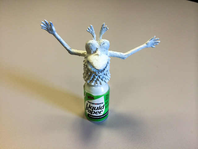 White-out finger monster