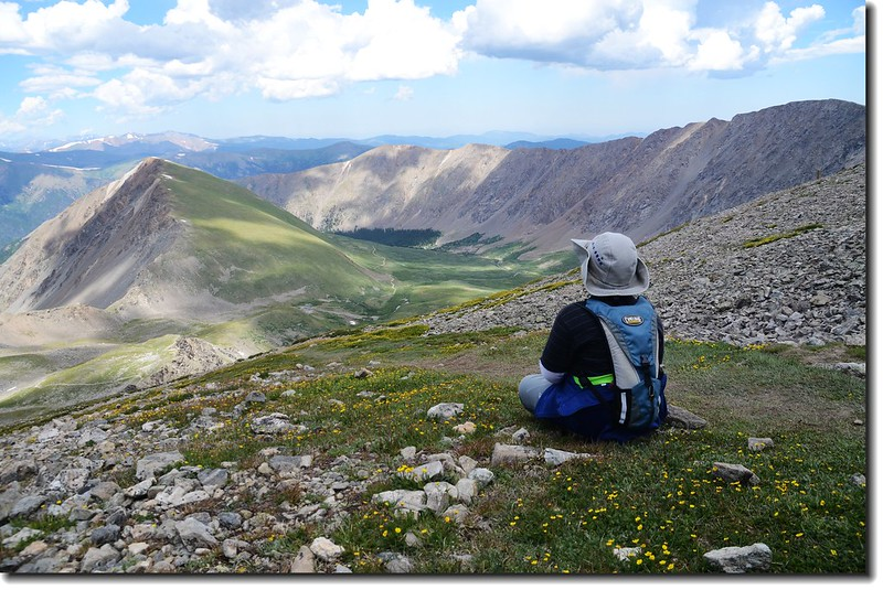 Jacob is taking a break at the Grays Peak trail 5