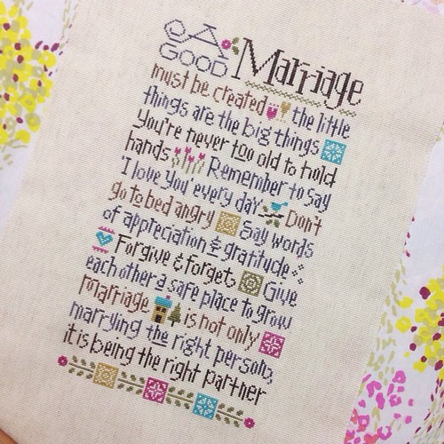 Done! What next?   #agoodmarriage #lizziekate #crossstitch #sashathestitcher