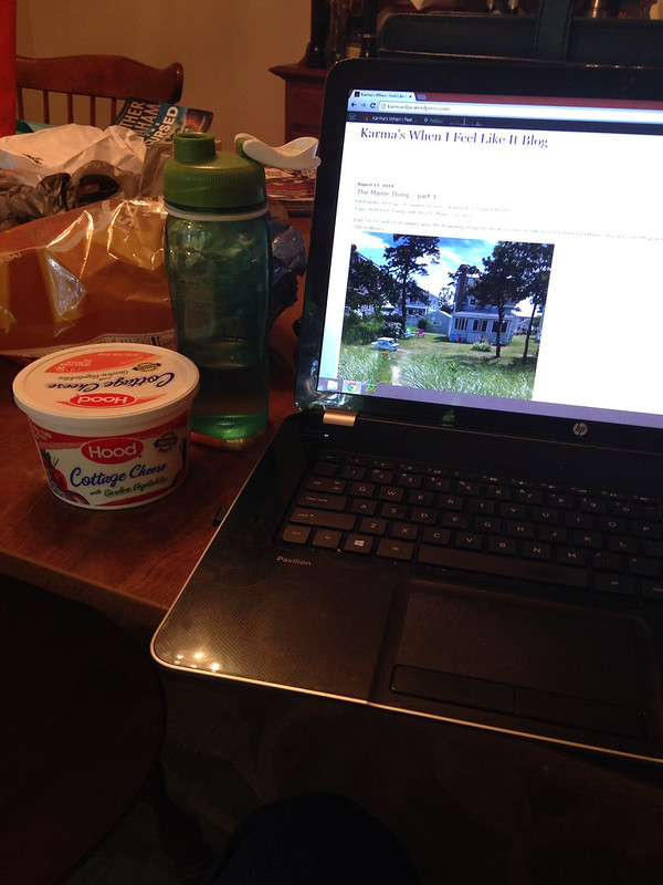 Blogging with a snack