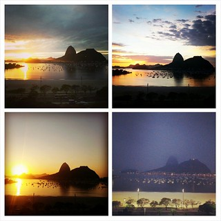 Four mornings of Rio. Sunday (top right) ended up being the best day.