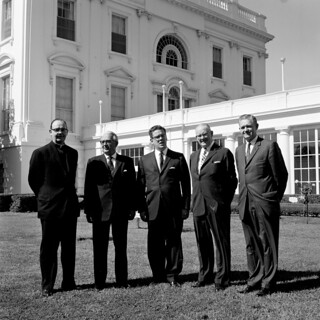 Presidential Assistant John J. McNally with Visitors from Worcester, Massachusetts