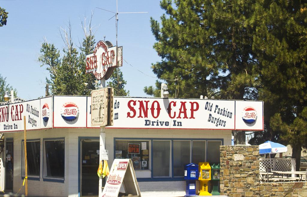 Snocap cute retro font signage vintage shop front