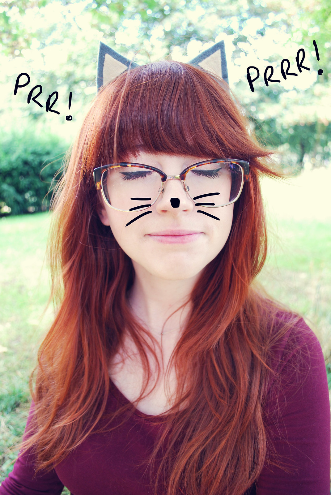 cute ginger cat girl