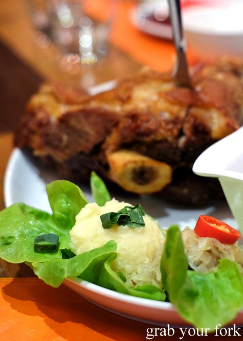 Mashed potato at Tawandang Thai-German restaurant, Sydney