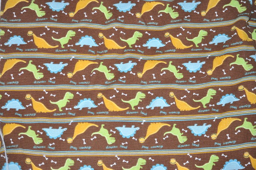Dinos in a Line thermal  knit