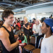 Justin meets members of Family SOS in Halifax. August 25, 2014.