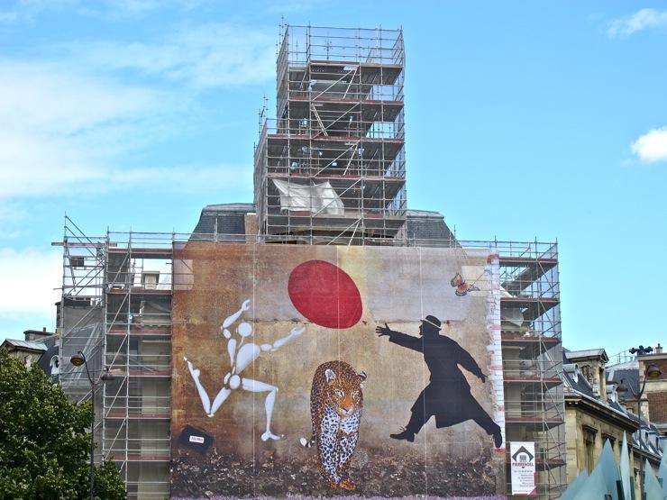 Scaffold cover street art