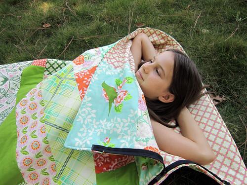 an Up Parasol sleeping bag