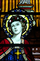 Henry Wood memorial window detail: St Cecilia