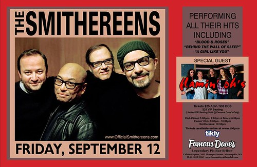 09/12/14 The Smithereens/ Flamin' Oh's @ Famous Dave's BBQ (Uptown), Minneapolis, MN