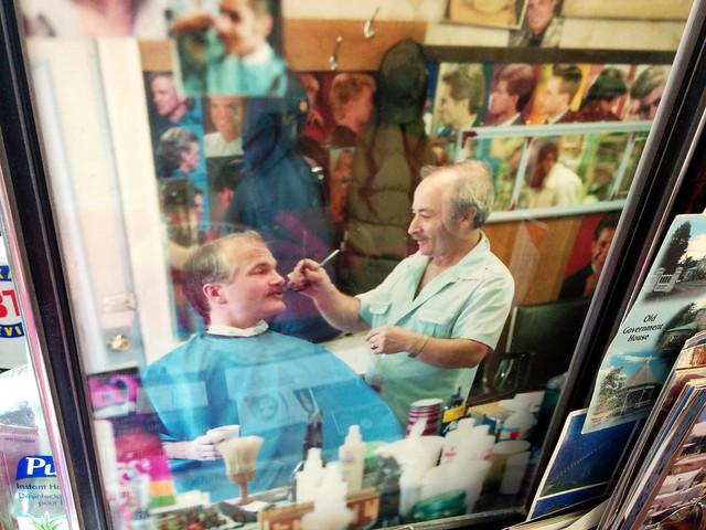 Picture of Jack Layton, Aristotelis Barber Shop, Toronto, Ontario, Canada