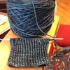 Cast on some Cookie A socks last night. Pattern is gyokura yarn is hazel knits artisan colorway atmosphere