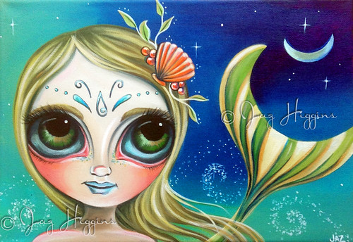 """Midnight Mermaid"" original painting by Jaz Higgins"