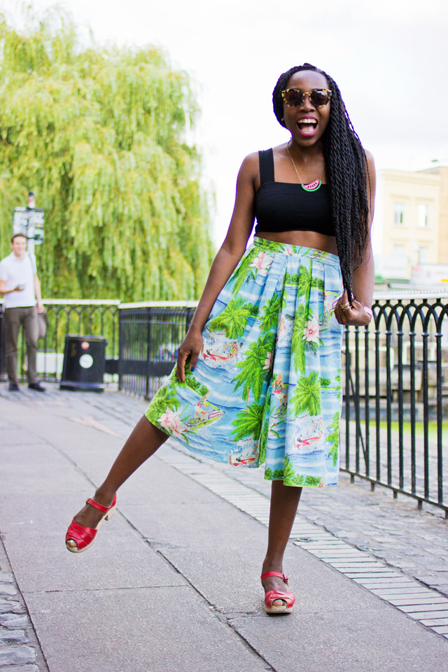 how to wear vintage culottes