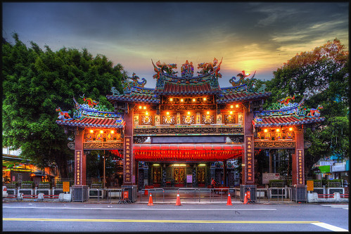 voyage trip travel sunset architecture temple soleil buddhist religion taiwan taichung yuan hdr feng lever bouddiste