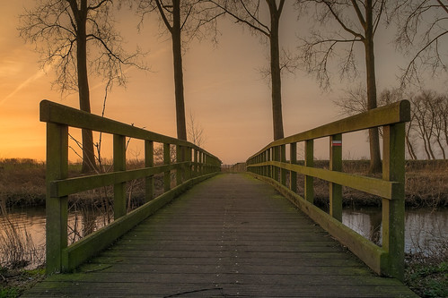 sunrise belgium footbridge damme brugje infinitexposure