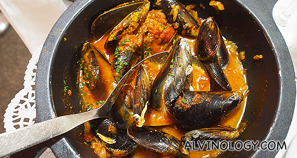 Fisherman style mussels