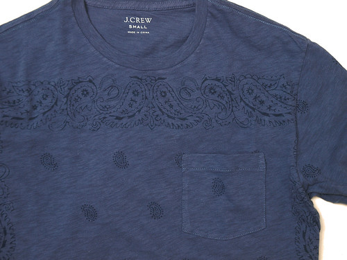 J.Crew / Pocket Tee in Bandana Print