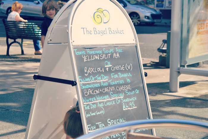 the bagel basket in largs