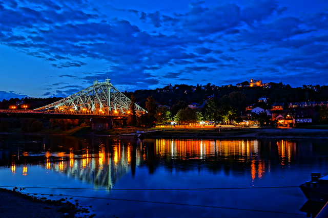 Blaues Wunder Dresden   HDR
