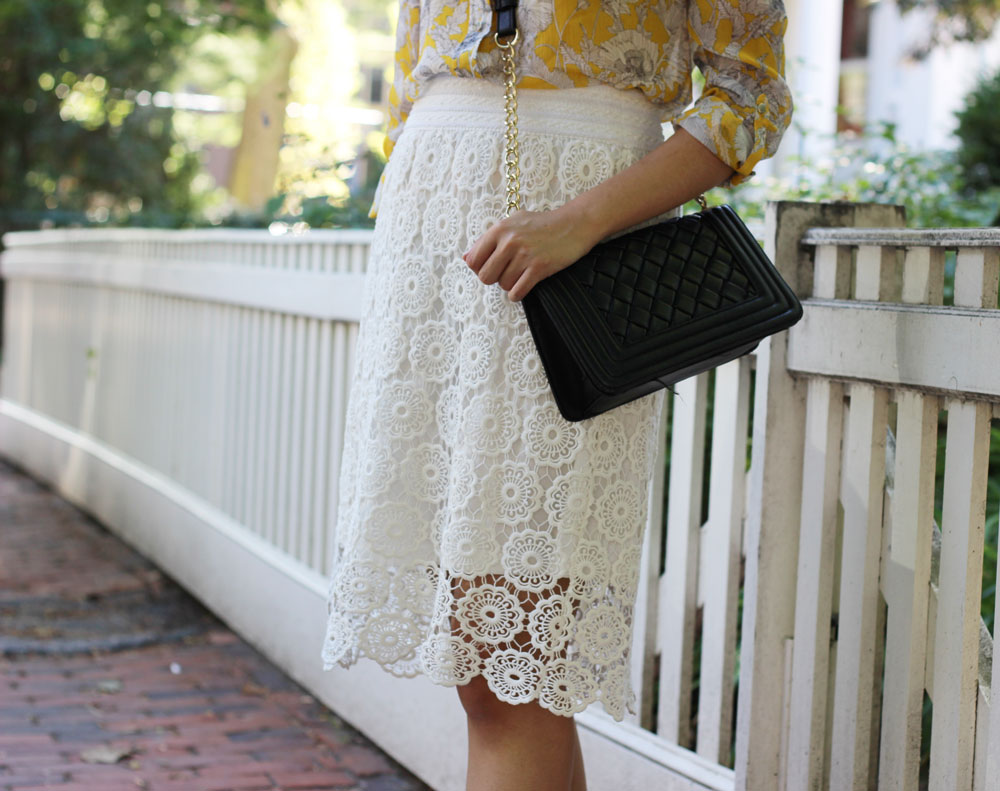 White lace skirt after Labor Day