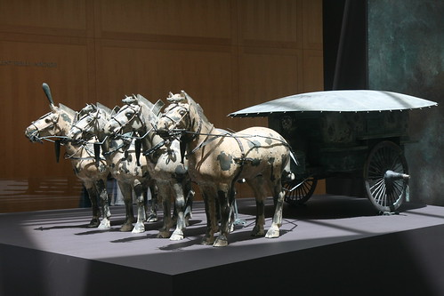 Asian Horse Carriage Sculpture