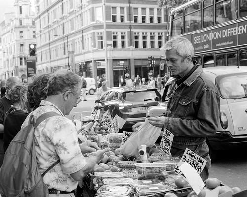 London - street veg stall