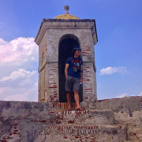me on top of Castillo San Felipe de Barajas