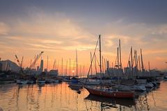 yacht club sunset