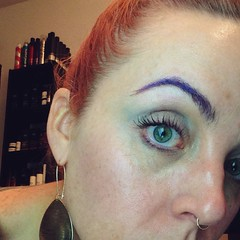 I love how I had purple eyebrows today and not one person said anything. It's the new normal.