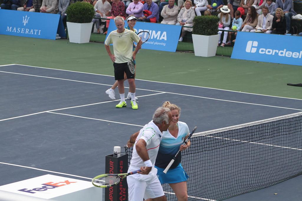 Bahrami, Clijsters, McEnroe and Seles