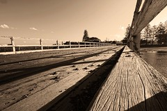Weathered wooden Bridge
