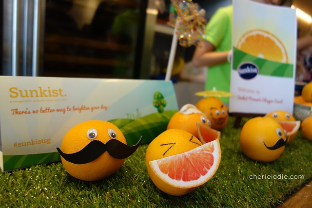 Sunkist oranges all dressed up and ready to party!