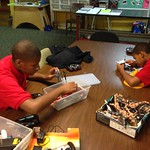 Brothers Tyree and Tychichus working on r/c helicopters