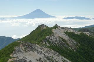 鳳凰三山より富士