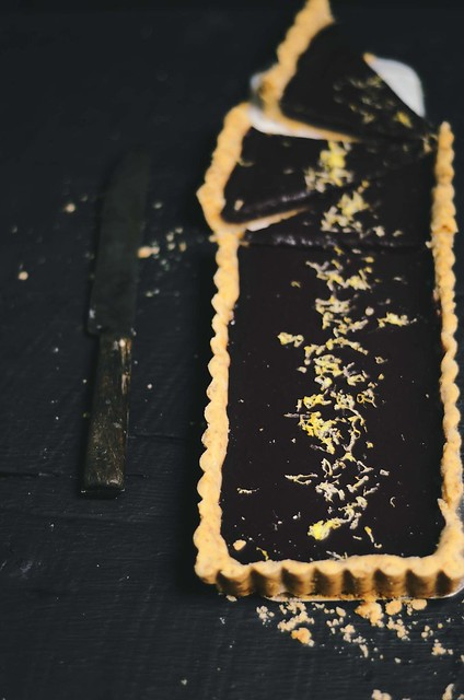 concord grape tart with almond crust | A Brown Table