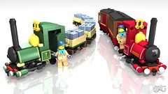 Narrow Gauge Steam Engine - Lord Basil and Wyvern