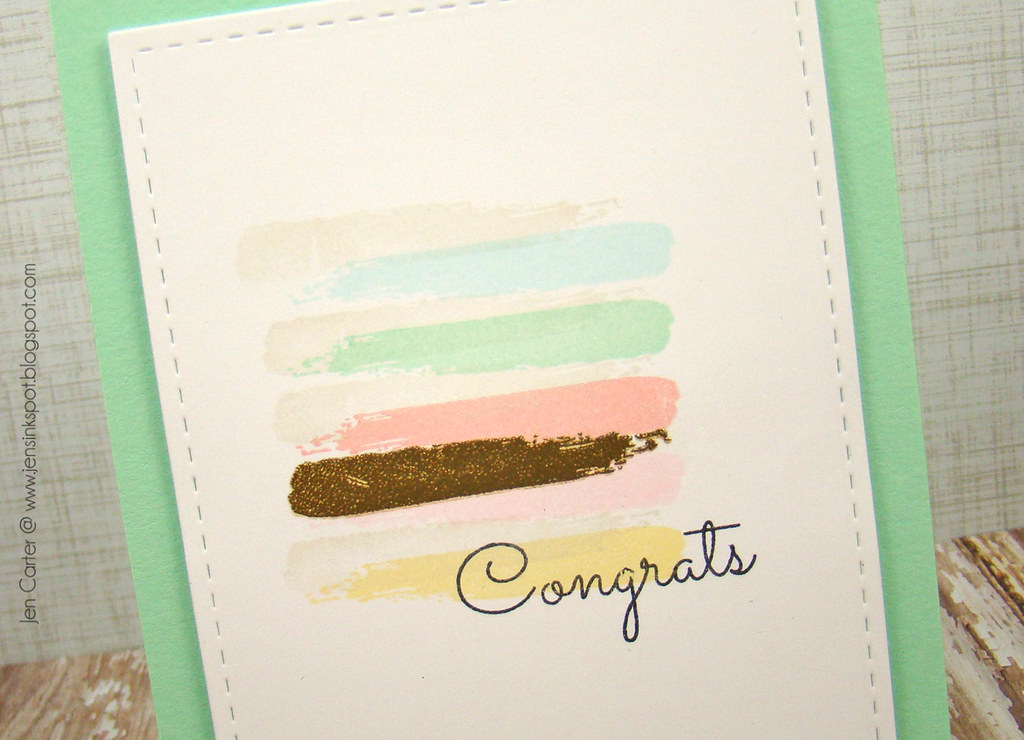 Watercolor Congrats closeup