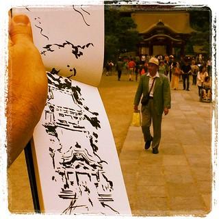 #japon #kamakura #pentel #urbansketch