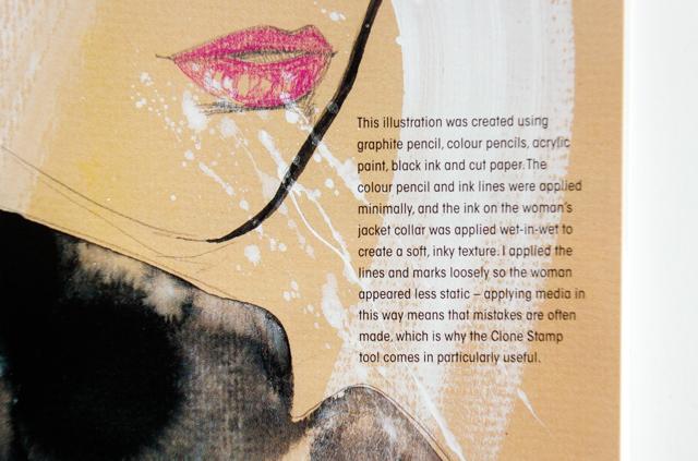 cutting edge fashion illustration - mixed media details