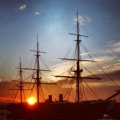 Southsea Sunset Ship