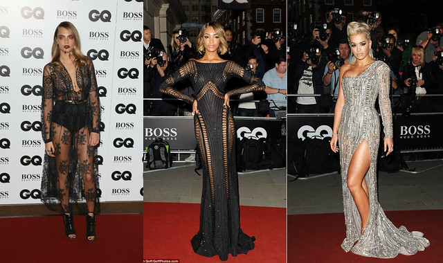 GQ-Men-of-the-year-Awards-2014,sheer lace dress,  Burberry Prorsum sheer black lace dress, lace Burberry dress, high waisted knickers, Tabitha Simmons buckle detail peep toe ankle boots, Zuhair Murad Fall 2014 couture dress. Mesh dress, fishnet detail dress, Zuhair Murad dress, Fall 2014 couture dress