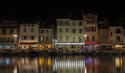 mer night port nightshot harbour restaurants soir cassis nuit