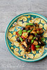 Salade poulet caponata sicilienne