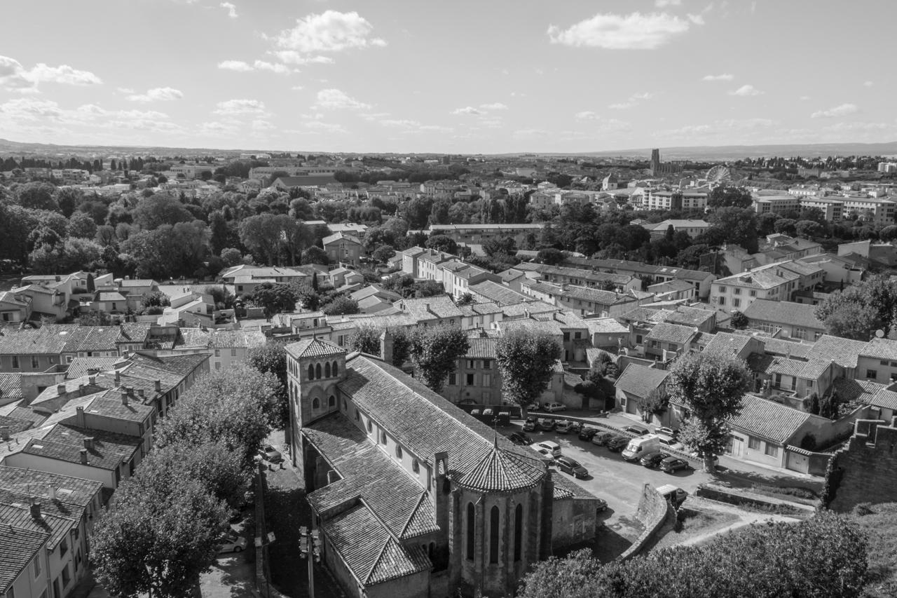 Carcassonne - Blick auf die Stadt